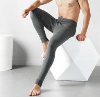 Langsha 浪莎 991 991 男士加绒加厚羊毛护膝打底裤 (XL、藏青)