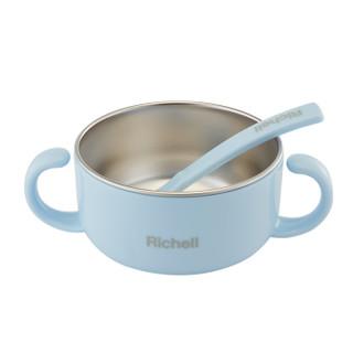 Richell 利其尔 宝宝辅食研磨碗 320ml 蓝色