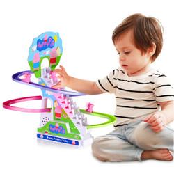 DODOELEPHANT 豆豆象 中号 小贝猪滑梯轨道玩具  3件