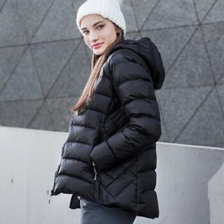 凯乐石(KAILAS)女士中长款加厚防寒连帽羽绒服外套【女款】KAILAS黑 L (黑 女、L)