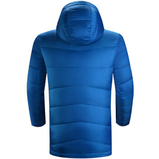 凯乐石(KAILAS)男士中长款加厚连帽羽绒服外套【男款】晴空蓝 XL (晴空蓝、XL)