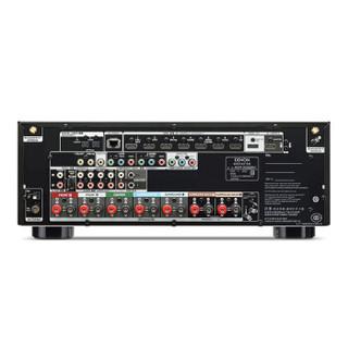DENON 天龙 新X系列 AVR-X2500H 4K全景声7.2声道AV功放机 黑色