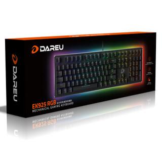 Dareu 达尔优 EK925 RGB暗夜流光机械键盘 黑色青轴