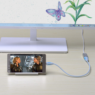 VENTION 威迅 CBB USB2.0延长线 (3米、镀镍、银色棉网)