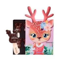 Enon 怡浓 一鹿有你 麋鹿棒棒糖 纯脂黑巧克力礼盒 120g *8件