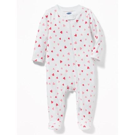 OLD NAVY 287140-1W 婴儿纯棉连脚连体衣