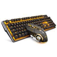 MageGee 机械风暴 机械键盘键鼠套装 (橙光、国产青轴)
