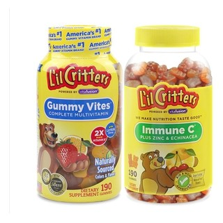 L'il Critters 丽贵 儿童多种维生素190粒+维生素C 190粒+鱼油DHA 60粒