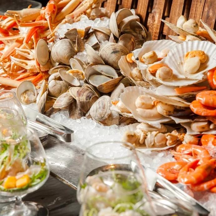 网红海鲜大咖,一口气吃遍8国美食!上海浦东香格里拉大酒店 单人自助餐