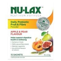 Nu-Lax 乐康膏 铂金版每日益生菌水果纤维粉  5.5g*15袋