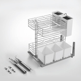 HIGOLD 悍高 橱柜不锈钢调料拉篮 300mm