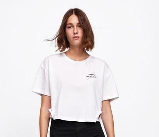 ZARA 01165458250 女士字母装饰短袖T恤