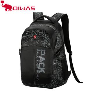 爱华仕运动韩版大容量 背包 双肩包 男包包 电脑包 书包休闲包4040 黑色