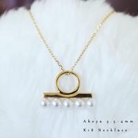 Akoya  baby珍珠项链 3.5-4mm K18
