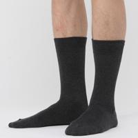 MUJI 无印良品  F6AA111 男式棉混合脚直角袜