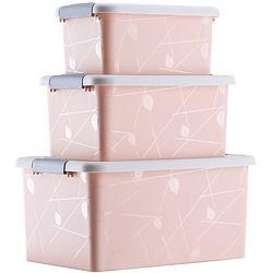 傲家 塑料收纳箱三件套 7L+13L+23L