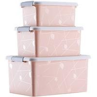 傲家 塑料收纳箱 三件套 7+13+23L