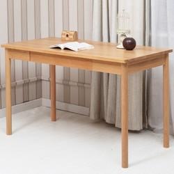 维莎 w0202 日式实木书桌 (0.9m 单抽屉)