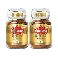 MOCCONA摩可纳无糖低脂冻干学生美式速溶黑咖啡粉100g*2 *2件