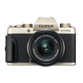 FUJIFILM 富士 X-T100 (15-45mm f/3.5-5.6)无反相机套机 香槟金