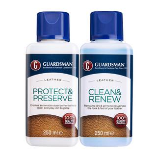 意大利Guardsman皮革护理剂清洁剂套装皮包皮衣皮沙发护理剂真皮皮具保养油 *2件