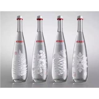 农夫山泉 天然矿泉水(玻璃瓶)750ml* 8瓶 整箱(图案随机)