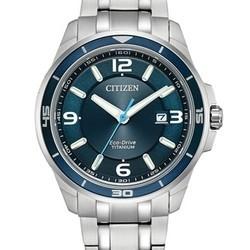 CITIZEN 西铁城 Ti+IP 超级钛 BM6929-56L 男士光动能腕表