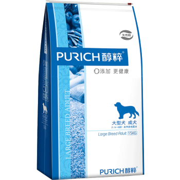 PURICH 醇粹 宠物狗粮 大型成犬粮 15kg +凑单品