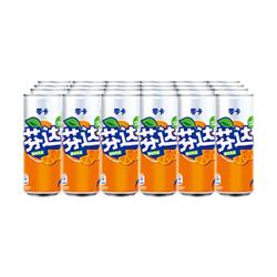 Fanta 芬达 零卡 橙味汽水 330ml*24罐 *2件