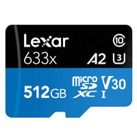 Lexar 雷克沙 633X MicroSDXC TF存储卡 512GB