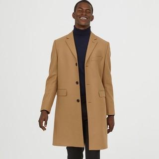 H&M 0631777 男士混纺羊绒大衣