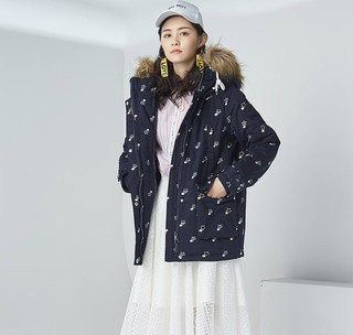 ES 艾格运动 8A033204440 女士中长款棉服