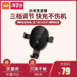 新品发售、13日0点:70迈 车载Qi无线充电 手机支架