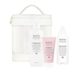 NATIO 玫瑰水保湿系列 护肤套装(洁肤水 250ml+爽肤喷雾 200ml+日霜 75ml)