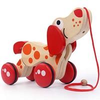 kavar 米良品 儿童木制创意小动物拖车玩具