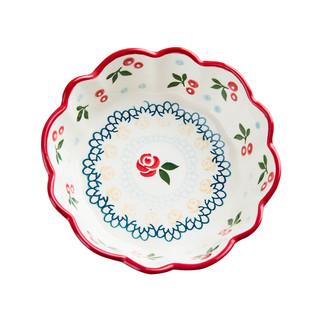 Yomerto 健康樱桃系列 手绘釉下彩樱桃梅花碗 5.5寸