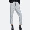 ZARA TRF 06416272812 女装复古纽扣饰格纹休闲裤