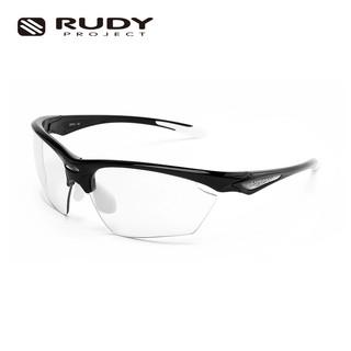 Rudy Project 璐迪 近视定制运动眼镜 异形切割+变色镜片STRATOFLY (光泽黑)