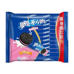 OREO 奥利奥  夹心饼干草莓味 349g *6件