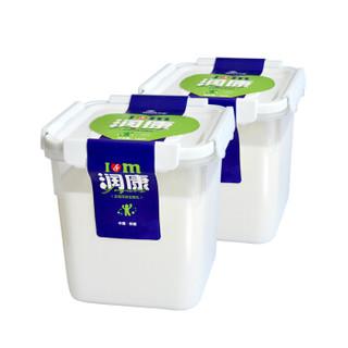 天润 桶装酸奶 老酸奶 1kg*2桶