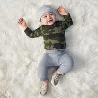 OLD NAVY 婴儿纯色保暖绒面长裤
