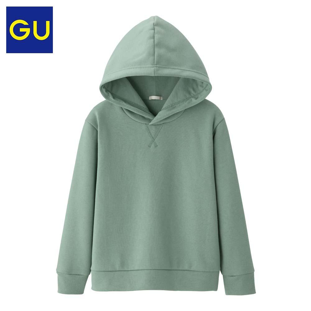 GU 极优 GU311378000 男童反面起毛连帽套头衫 灰色 140cm