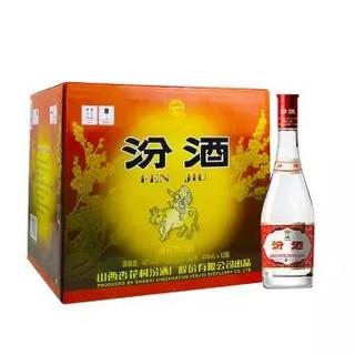 汾酒 玻汾 42度 475ml×12瓶 整箱装 清香型白酒(红盖 汾酒)
