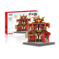 星堡积木 XB-01101 迷你中华街 拼装模型玩具 茶楼