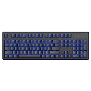 RAPOO 雷柏 V708 多模式背光机械键盘 (104键、蓝牙,有线、黑色、黑轴)