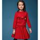 Deesha 笛莎 女童时尚公主针织套装