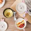 不锈钢双层防烫泡面碗 可爱小兔带盖带勺子方便面碗套装 9.9元