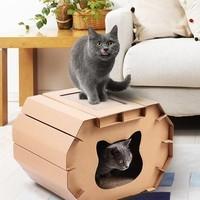 FUWAN 福丸 立体猫房子型 猫抓板 +凑单品