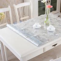 软玻璃PVC防水防烫透明磨砂塑料餐桌垫