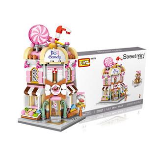 移动专享 :  LOZ 俐智 街景小颗粒积木 1644 糖果店